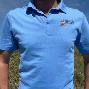 Polo -Prim + Preus Jersey - Front - Skyline Blue