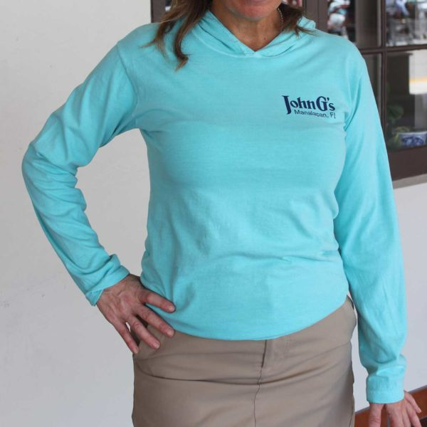 Comfort Long Sleeve Hooded Tee - mint front